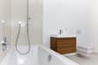 Sunlit modern bathroom