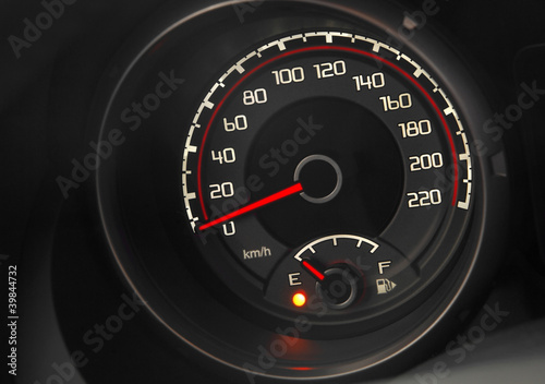 close up of a modern car dashboard