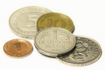 German Mark coins