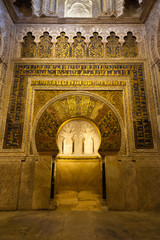 The Mirhab of Cordoba's mosque. Spain