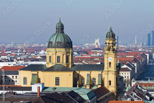 theatinerkirche, panorama, münchen