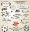 Detaily fotografie Premium Quality and Satisfaction Guarantee vintage Labels