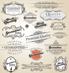 Premium Quality and Satisfaction Guarantee vintage Labels