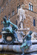 Fountain of Neptune in the Piazza della Signoria Florence Italy