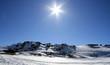 soleil en haute montagne