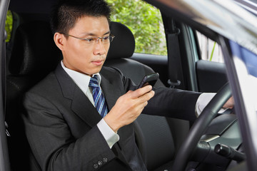 Texting on cell phone while driving