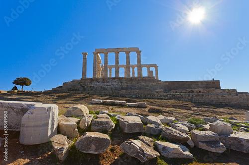 Staande foto Athene Poseidon Temple at Cape Sounion near Athens, Greece