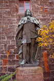 Statue of a german nobel at Hohenzollern castle in Germany poster