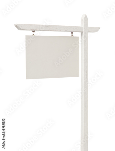 Blank Real Estate Sign with Clipping Path