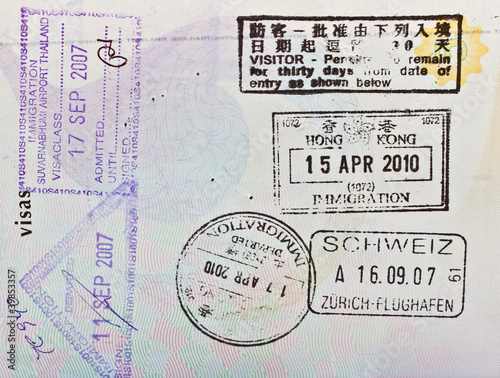 passport immigration stamps