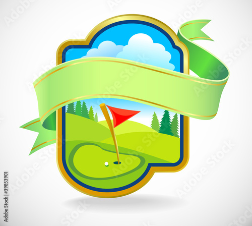 Premium Golf  Club Label