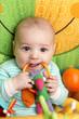 Baby biting rattle