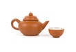 Ceramic teapot and teabowl