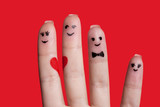 happy fingers family in love