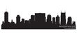 Nashville, Tennessee skyline. Detailed vector silhouette