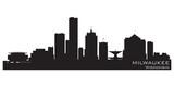 Fototapety Milwaukee, Wisconsin skyline. Detailed vector silhouette