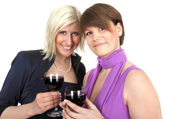 gemeinsam Rotwein trinken