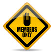 Vector memebers only sign
