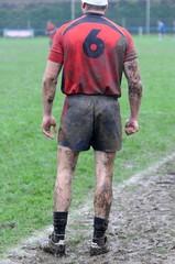 sur la touche au rugby