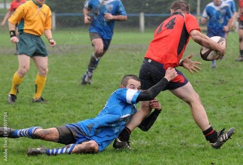 les deux joueurs au rugby