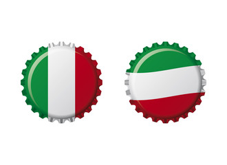Italia bottle caps