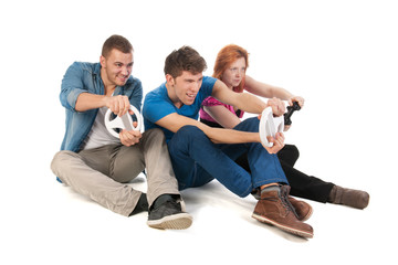 Young people gaming