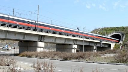 Viadotto ferroviario - tunnel - traforo