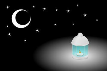lampion i noc