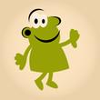 cartoon mann grün