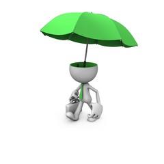 Gentleman green umbrella