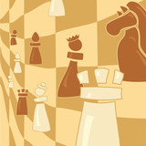 chess figure on abstract background