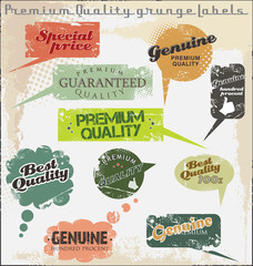 Premium Quality and Satisfaction Guarantee grunge Labels