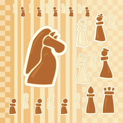 greeting card with chess figures