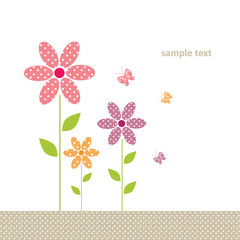 cute greeting card with flower