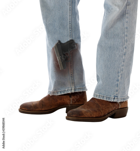 Conceal Carry Weapon Hidden in Boot