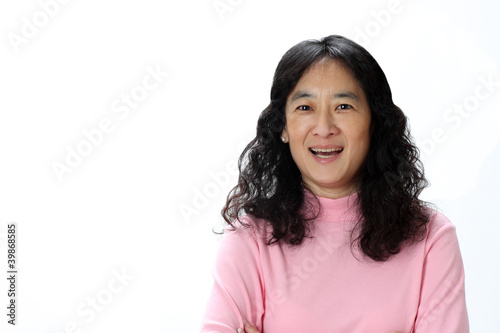 A Mature Asian Lady Laughing