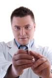 Doctor Preparing Anesthetic Syringe poster