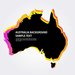 Australia map Background