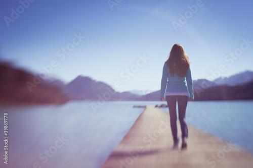 Einsamer Spaziergang