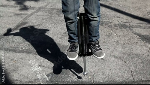 Man on a Pogo Stick
