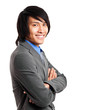 Asian businessman isolated on white
