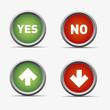 pfeil ja nein yes no rot grün kreis rund button haken ok kreuz