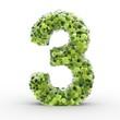 Texteffekt Moleküle grün Zahl 3