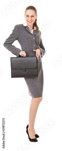 businesswoman with papers