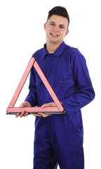 Workman with triangle