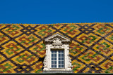 Colored roof tile in dijon city - France