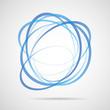 Abstrakt green Vektor rings logo zeichen wasser himmel blau