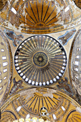 Ceiling and dome of Haghia Sophia