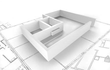 Grundriss - Darstellung in 3D - Architekt