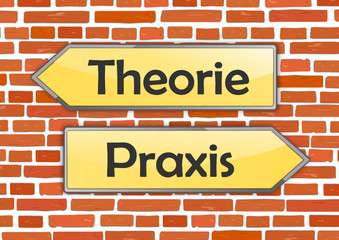 Schilder Richtung Backstein Theorie Praxis